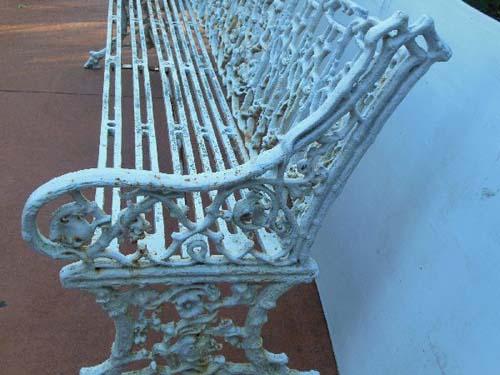 Garden Bench Antique Coalbrookdale Cast Iron SOLD