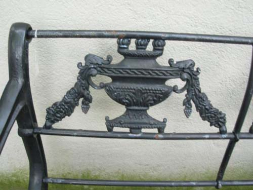 Bench & Chair,Regency Pattern, Cast Iron. SOLD