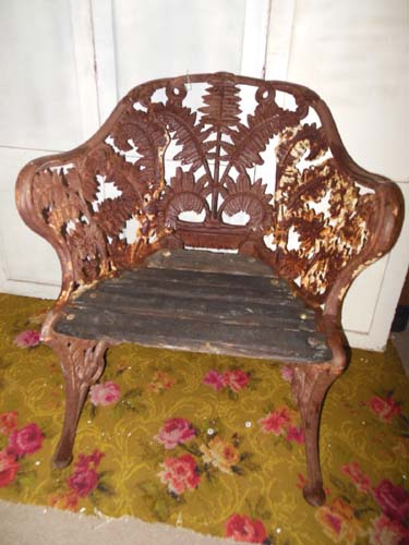 Chair, Cast Iron Fern Chair, Coalbrookdale? Sold