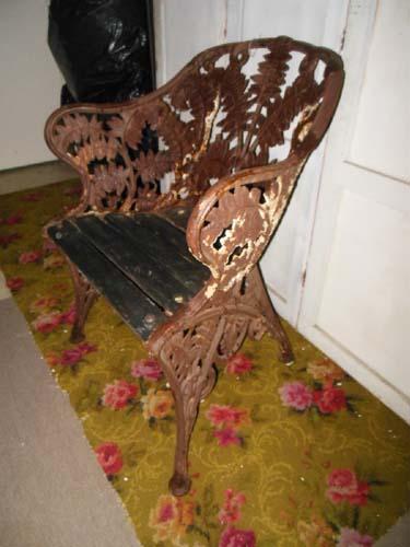 Chair Cast Iron Fern Chair Coalbrookdale Sold Joan Bogart