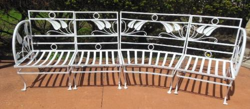 Patio Set, Salterini Vintage Banana Leaf. SOLD
