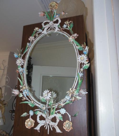 Vintage Italian Tole Mirror