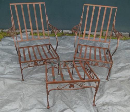 Vintage Salterini Mt Vernon Chairs & Ottoman SOLD