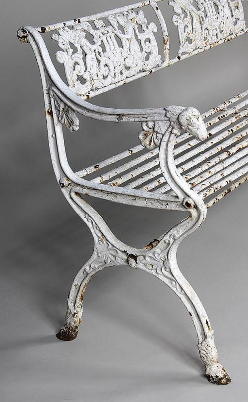 """Schinkel Garden Cast Iron Angel Bench 70"""" long"""