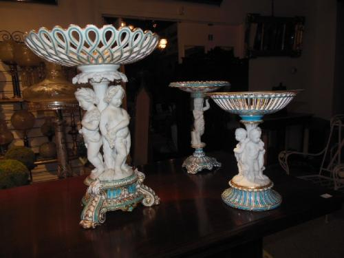 Parian English Copeland and Minton Compotes