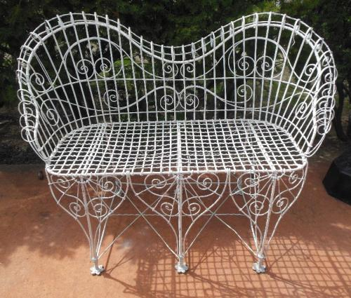 Victorian Garden Wire Bench SOLD