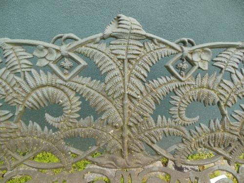 Garden Antique Cast Iron Fern Bench.     SOLD