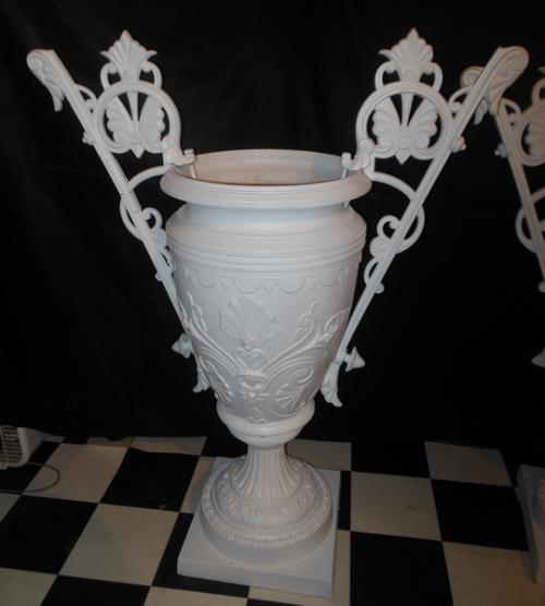 Victorian Cast Iron Garden Urns by Mott
