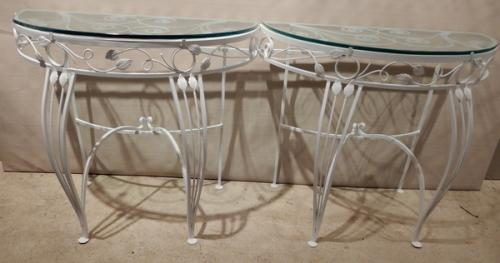 Salterini style Console tables for patio & garden