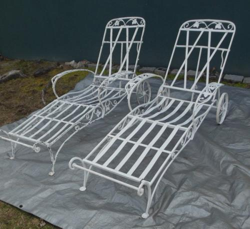 Vintage Salterini Mt Vernon Garden Chaise Lounges