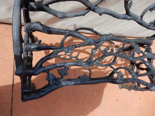 Cast Iron Bench Rustic Garen Bench SOLD