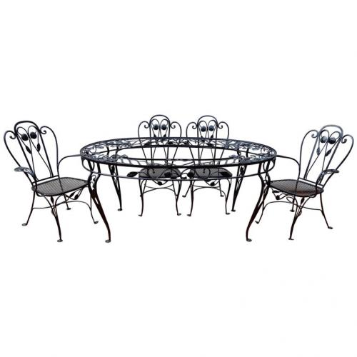 Salterini Dining Set Della Robbia pattern 7pc SOLD