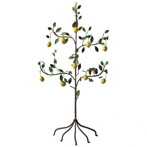 Vintage Italian Tole Lemon Tree    SOLD