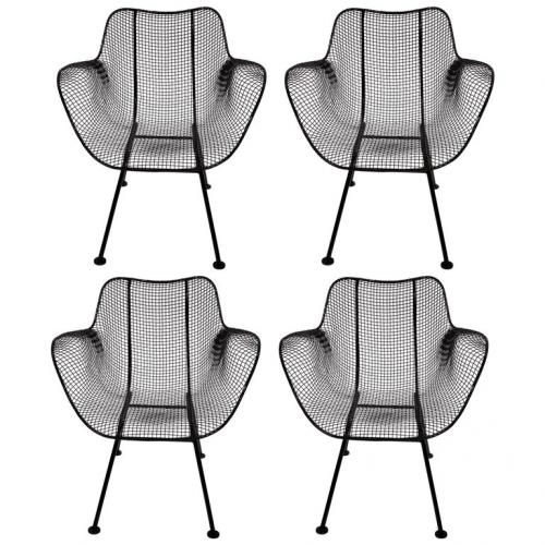 4 Woodard  Sculptura chairs