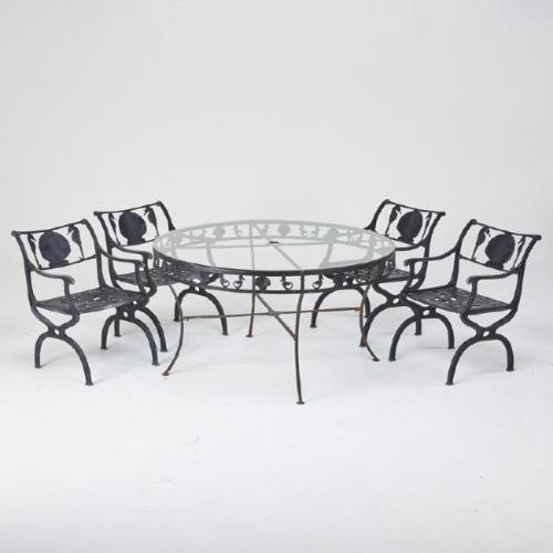 Molla Dining Set w Shells & Seahorses      SOLD