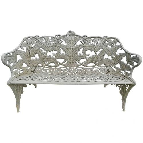 Garden Antique Cast Iron Fern Bench