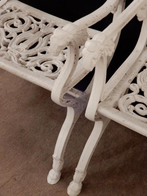 Vintage Schinkel style garden chairs w Angels SOLD