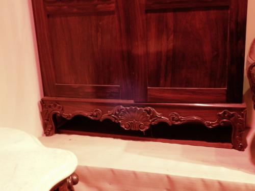 Victorian Rosewood Rococo Revival Gothic Bookcase
