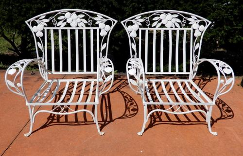 Salterini Pr Carved Chairs