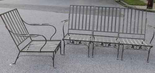 Salterini Vintage Patio Set Mt Vernon Pattern SOLD