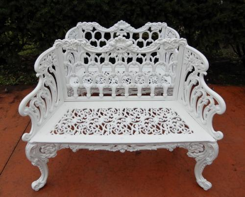 Cast Iron Gothic White House Garden Benches SOLD