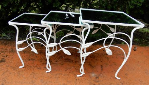 Salterini Nest of Tables, Lily pattern SOLD