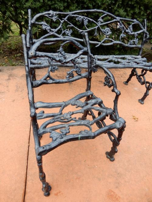 Twig Bench  & Chair Cast Iron Rustic or Twig patte