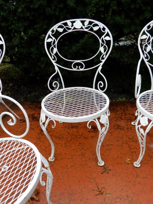 Woodard Chantilly Rose set of 4 chairs
