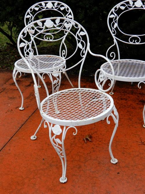 Woodard Chantilly Rose set of 4 chairs.     SOLD