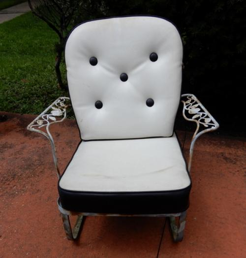 Woodard Chantilly Rose Arm Chair. SOLD