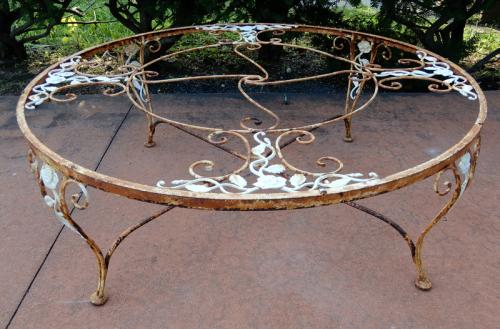 Woodard Chantilly Rose Coffee Table. SOLD