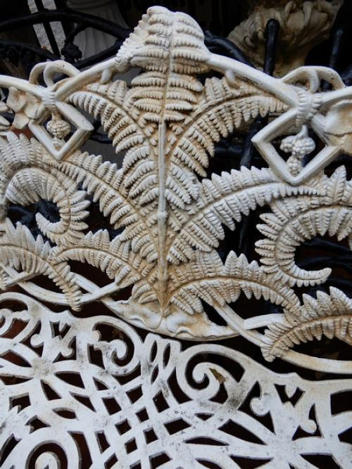 Garden Bench Cast Iron Fern pattern