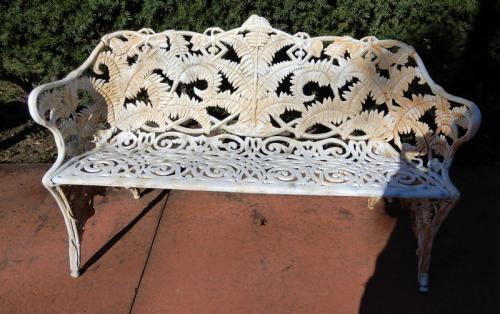 Garden Bench Cast Iron Fern pattern