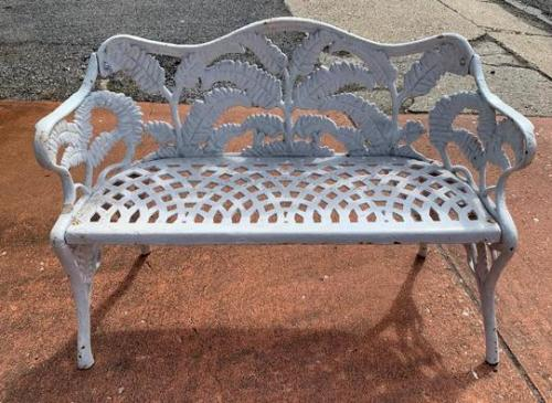Benches Pr Cast Iron Fern Benches       SOLD
