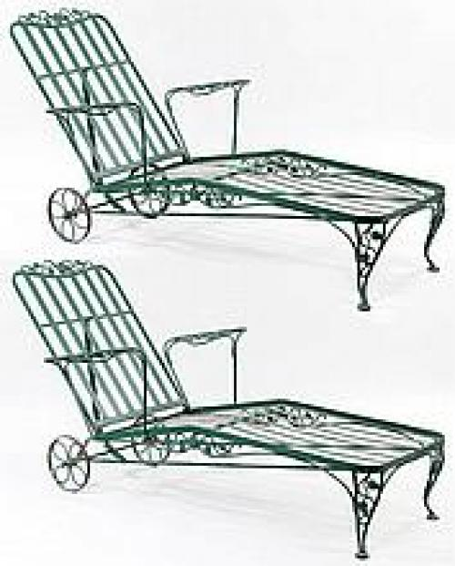 Chaise Lounges by Woodard Chantilly Rose a pr SOLD