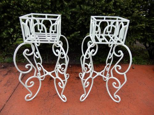 Planters, wrought iron