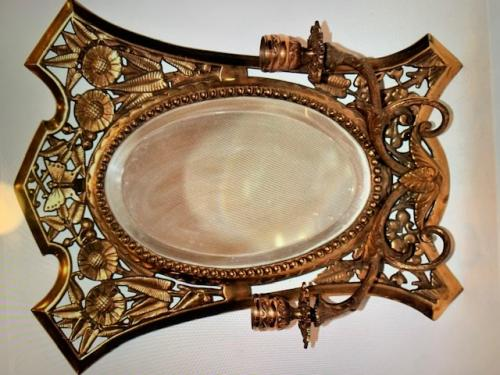 Aesthetic Movement Brass Mirror