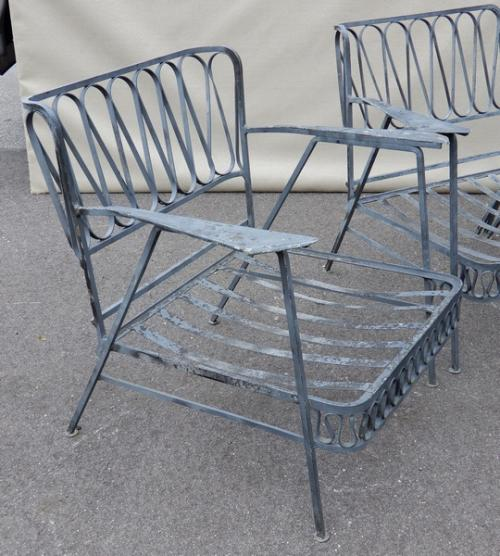 Salterini patio set in Ribbon Pattern SOLD