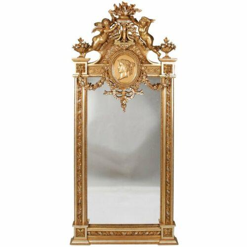 Gilt, Neo Grec Figural Mirror attributed to Herter