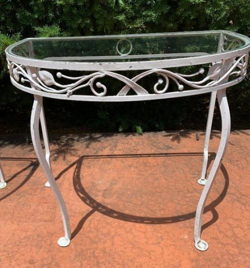 console table by salterini a pair  SOLD