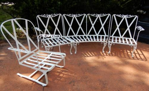Woodard Chantilly Rose Patio Set