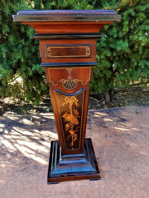 Victorian Inlaid Rennaisance Revival Pedestal