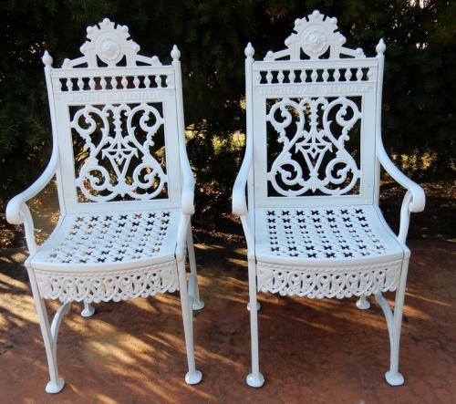 Cast Iron Pr  Chairs