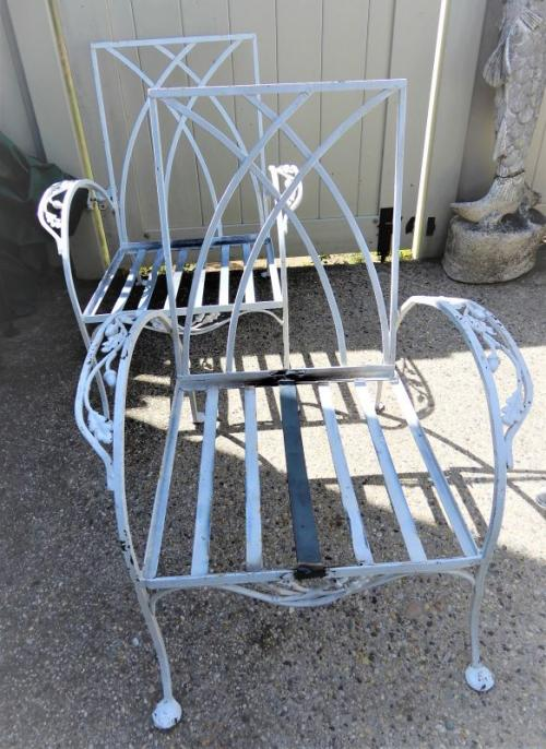 Salterini ornate pair of armchairs