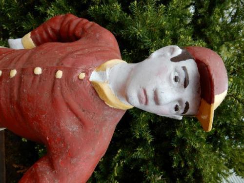 Cast Iron Jockey in Red Silks