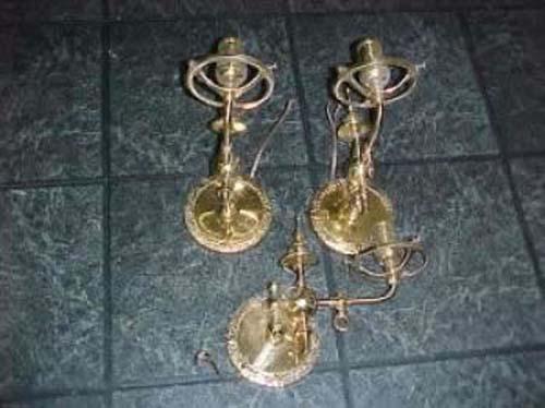 Victorian Gothic 2 arm Gas Chandelier