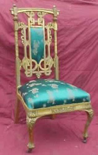 """""""Herter Bros"""" Gilded Chair  J Bogart A"""