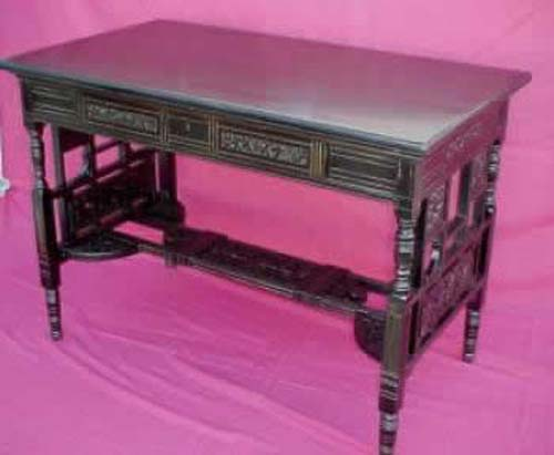 """Herter Bros"" Ebonized Victorian Table SOLD"