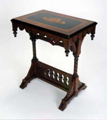 Victorian Modern Gothic & Inlaid Table