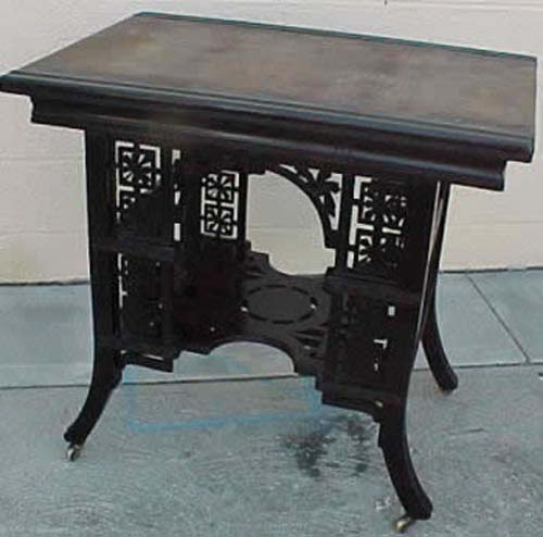 Victorian Aesthetic Movement Ebonized Table. SOLD